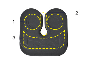 座り心地を追求した<br /> アウルデザイン+U字形状。