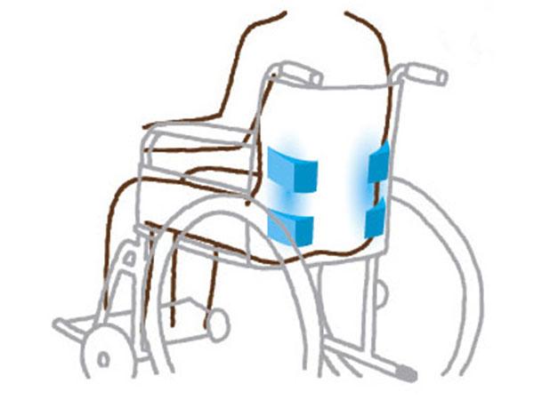 車いす上での姿勢を保持