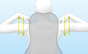 腕の動きを妨げない<br /> スマートなデザイン。