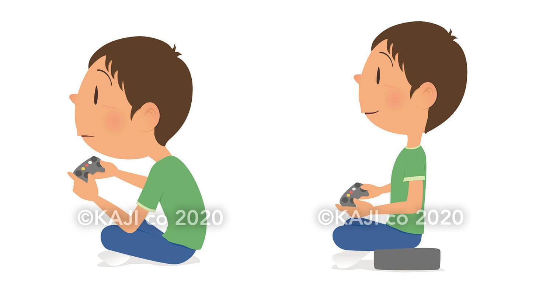 子どもの座り姿勢はクッションで直す!食事、勉強、テレビ、ゲーム時も ...