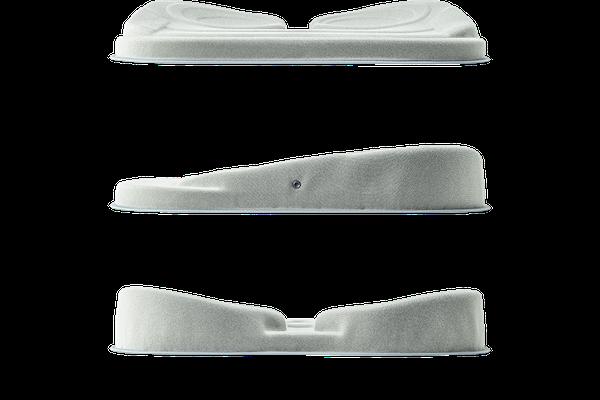 立体形状で<br /> 骨盤をサポート。